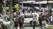Stock Video Footage of Pedestrian Crossing Time Lapse, Crowd People, Traffic, Sydney