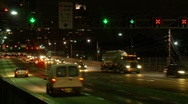 Night Traffic Time lapse - Busy Road, Cars, Transport, Rush Hour Stock Footage