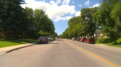 Drive plate, summer afternoon city, #2 inner-city Stock Footage