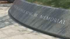 Completed Martin Luther King memorial monument in DC Stock Footage