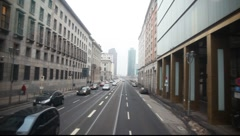 Drive thru Potzdamer Platz in Berlin overhead Stock Footage