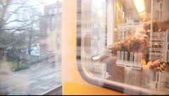 Window out of train - stock footage
