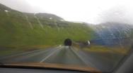 Mountain tunnel warp speed Stock Footage