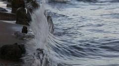 Ranta aallot spray Arkistovideo
