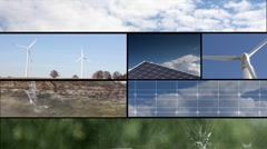 Renewable energy sequences Stock Footage