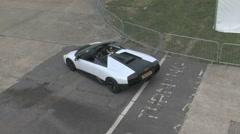 Lamborghini Murcielago aerial shot Stock Footage