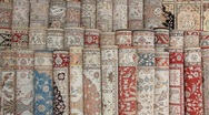 Turkish silk carpets Stock Footage