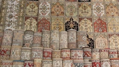 Turkish silk carpets - stock footage