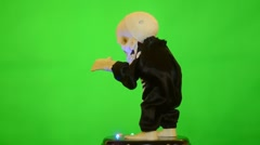 Dancing Skeleton over green screen Stock Footage