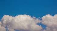 Stock Video Footage of HD 30p - Majestic clouds with clear crisp blue sky in time lapse