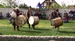 Tartanic performing - 26, 2011 - sound tract left intact. Stock Footage