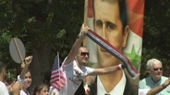 Stock Video Footage of Supporters of Syrian president