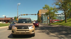 drive plate, summer afternoon city, #17 downtown - stock footage