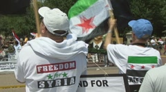 Support for Syrian rebels  Stock Footage
