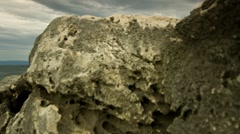 Mighty sea rock Stock Footage