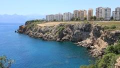Seacoast, Lara, Antalya, Turkey - stock footage