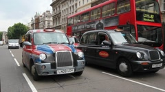 London Taxis Stock Footage