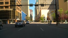 Drive plate, summer afternoon city, #23 downtown Stock Footage