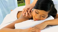 Asian Girl Enjoying Health Spa Pampering Stock Footage