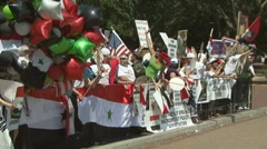 Supporters of Syrian president  Stock Footage