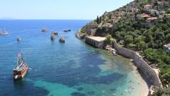 Seacoast, Alanya, Turkey - stock footage