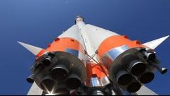 Yuri Gagarin R-7 Rocket Stock Footage