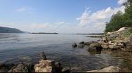 River Volga Shore Line Stock Footage
