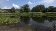 Volga River Russia Quiet spot Stock Footage