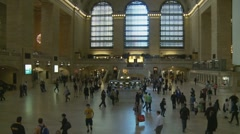 Central Station 3.10pm (fast zoom) Stock Footage