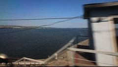 River Volga Crossing Stock Footage