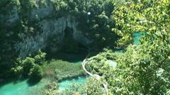 Croatia. Plitvice Lakes Stock Footage