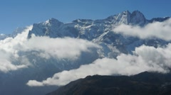 Fast moving clouds in Himalayas Nepal Stock Footage