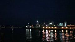 Poole docks at night 6708 Stock Footage