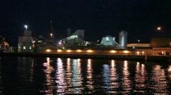 Poole docks at night 6711 HD Stock Footage