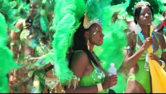 Stock Video Footage of Caribbean carnival parade