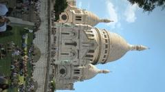 Sacre Coeur Vertical 1 Stock Footage