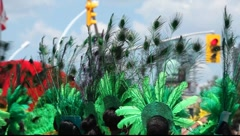 Annual Caribbean Carnival parade Stock Footage