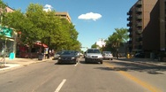 Drive plate, summer afternoon city, #35 inner city commercial district Stock Footage