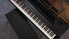 Grand Piano From the Top Stock Footage