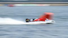 Vyshgorod, Ukraine . Grand Prix Formula 1 H2O World Championship Stock Footage