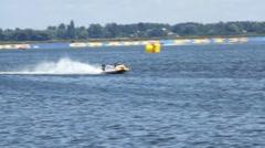 Vyshgorod, Ukraine .Grand Prix Formula 1 H2O World Championship Powerboat - stock footage