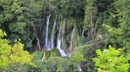 Waterfalls at Croatia 8a Stock Footage