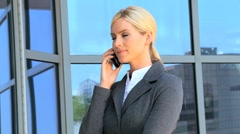 Female Business Executive with Smartphone in Close up - stock footage