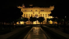 Malaga City Hall Stock Footage