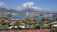 Stock Video Footage of Harbour, Alanya, Turkey