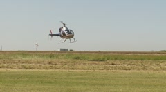 Aircraft, rotorway Exec helicopter landing Stock Footage
