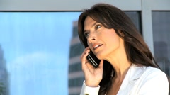 Female Business Executive Calling on a Smartphone - stock footage