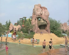 Having fun at the Aquatica water park Stock Footage