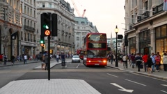 Busy London Traffic - stock footage