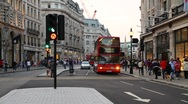 Busy London Traffic Stock Footage